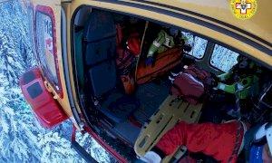 Scialpinista ferito nell'area del Pian delle Gorre, interviene l'eliambulanza