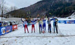 Sci di fondo, argento per Martino Carollo e Davide Ghio (Sci Club Entracque) nella team sprint giovani