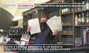 'Io Apro', Fabrice Tribbioli a Mattino 5: ''Protesta necessaria, malgrado le multe ho potuto pagare l'affitto''
