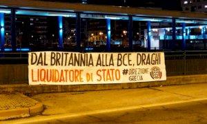 Governo, striscioni di CasaPound contro Draghi a Cuneo e Alba: