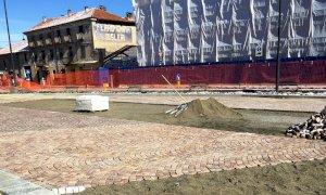 Busca, la neve e il gelo hanno fermato il cantiere di piazza Savoia per un giorno e mezzo