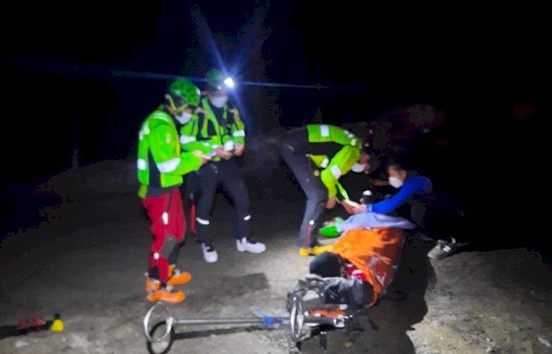 Intervento di recupero del Soccorso Alpino per un ciaspolatore in difficoltà sulla Bisalta