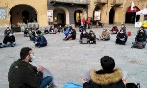 A Fossano un sit in di protesta contro il Regolamento di Polizia Urbana