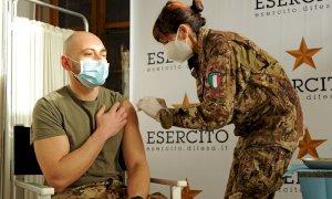 Iniziate le vaccinazioni anti Covid per il personale dell'Esercito di stanza in Piemonte