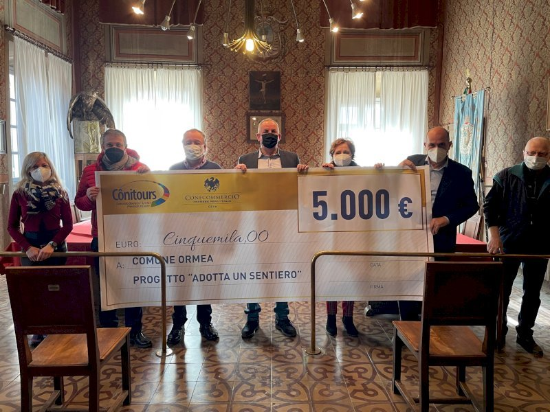 Dal Conitours 5 mila euro per il recupero della Balconata di Ormea