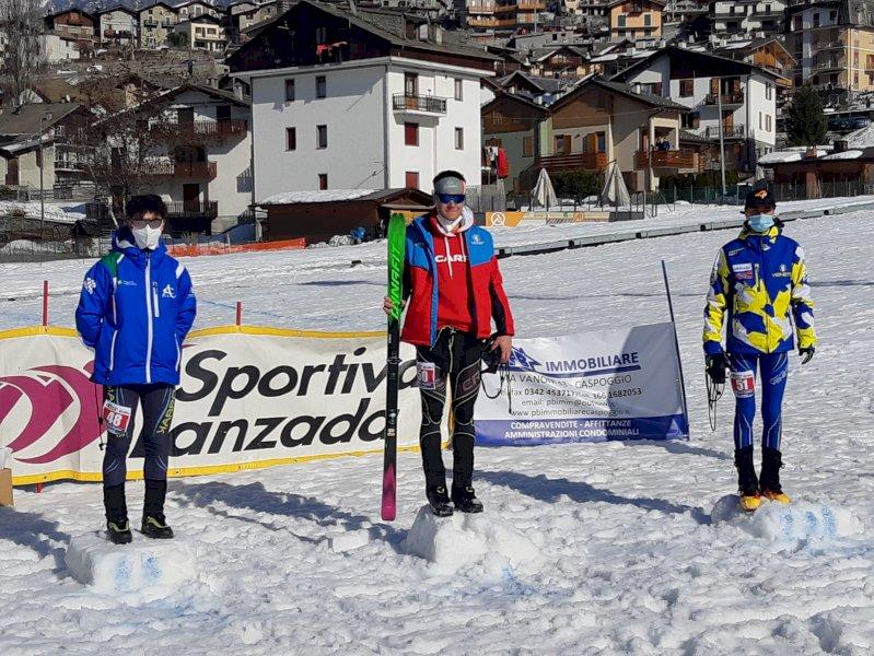 Sci alpinismo, vittoria per Filippo Bernardi nella Sprint Under 18 di Coppa Italia