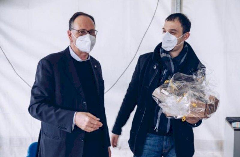 Il presidente nazionale Acli Emiliano Manfredonia in visita a Cuneo