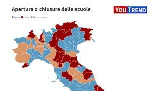 Secondo i nuovi parametri Cuneo sfiora la soglia di chiusura delle scuole