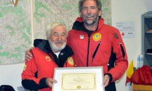 Valle Maira, Nino Perino nominato ''socio emerito'' del Soccorso Alpino