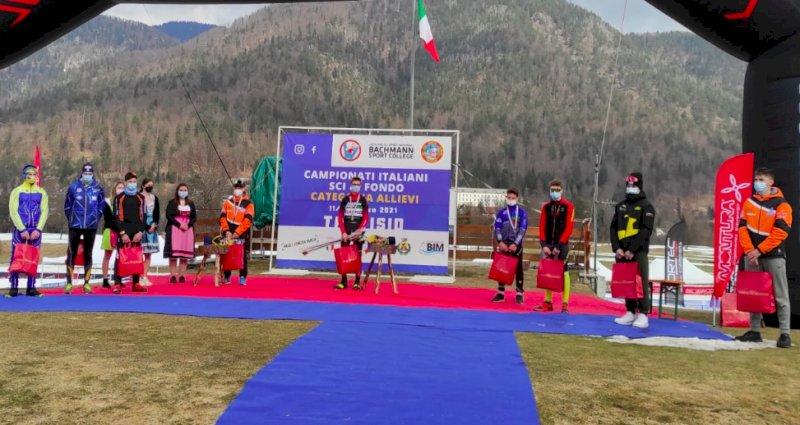 Sci di fondo, ottimi piazzamenti per i cuneesi nella prima giornata dei Campionati Italiani Under 16