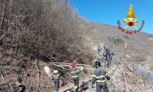 Raffiche di vento e alberi sradicati nella Granda: numerosi interventi dei vigili del fuoco