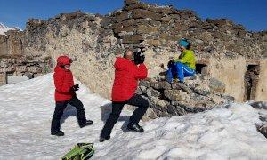 Le telecamere di Sky a Prato Nevoso e Limone Piemonte per il rilancio della montagna invernale