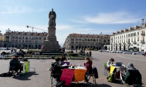 Studenti all'aperto, continua la protesta anti-DAD a Cuneo