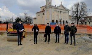 Lavori in corso per la nuova rotatoria di Madonna del Pasco a Villanova Mondovì