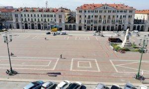 Cuneo, mercoledì riprenderà il tracciamento delle strisce di posizionamento del mercato