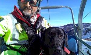 Mondovì, con il cane Legolas il Soccorso Alpino può nuovamente contare su un'unità cinofila da valanga