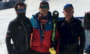 Sci Alpino, Corrado Barbera bronzo nello slalom dei Campionati Italiani Giovani