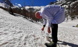 Microplastiche nelle Alpi Marittime, ieri campionamenti al Valasco