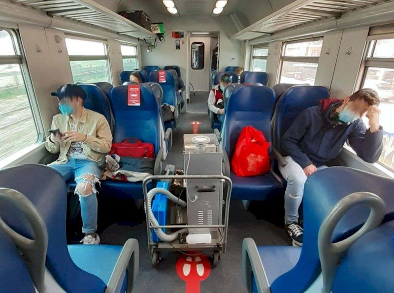 Campionamenti sul treno Cuneo-Torino lo scorso 26 marzo