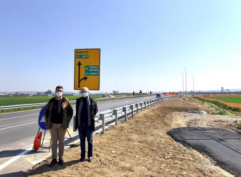 """Marene, domani riapre l'ingresso in A6. Calderoni: """"Intervento strategico per le Terre del Monviso"""""""