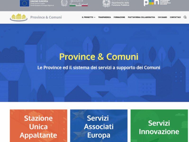 """""""Province&Comuni"""": online il sito di progetto per costruire la """"Provincia del domani"""""""