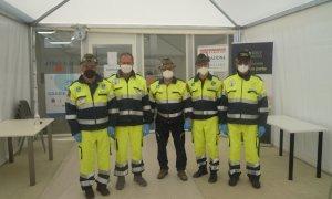 Al polo vaccinale del Movicentro anche l'assistenza della Protezione Civile degli Alpini di Cuneo
