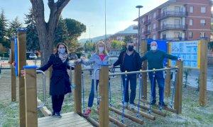 Santo Stefano Belbo ha inaugurato l'area fitness sul lungo Belbo