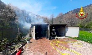 Monterosso Grana, incendio in un garage in borgata Levata