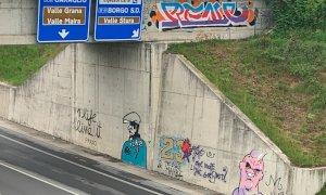 Sulla bretella dell'Est Ovest spuntano murales dedicati al mondo del basket e dei manga