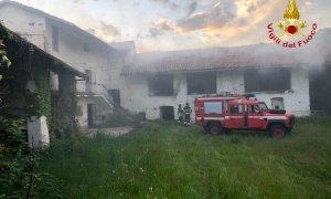 Busca, incendio in una casa disabitata in frazione San Rocco