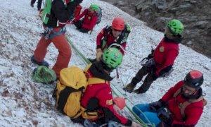 Giornata di esercitazioni in valle Gesso per il Soccorso Alpino di Cuneo