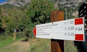 Aisone, chiuso per pericolo di caduta massi il sentiero delle Grotte