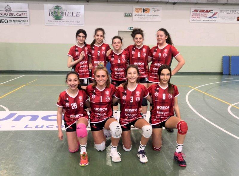 La formazione Under 13 gialla - ufficio stampa Cuneo Granda Volley