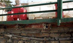 Intervento di ripristino per il cedimento di un marciapiede a Frabosa Sottana