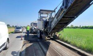 Iniziati i lavori di riasfaltatura della statale tra Savigliano e Genola