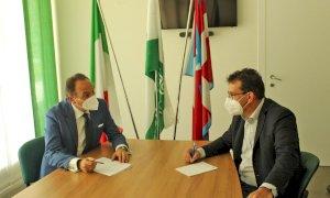 Il presidente della Regione Alberto Cirio in visita alla sede provinciale di Confagricoltura Cuneo