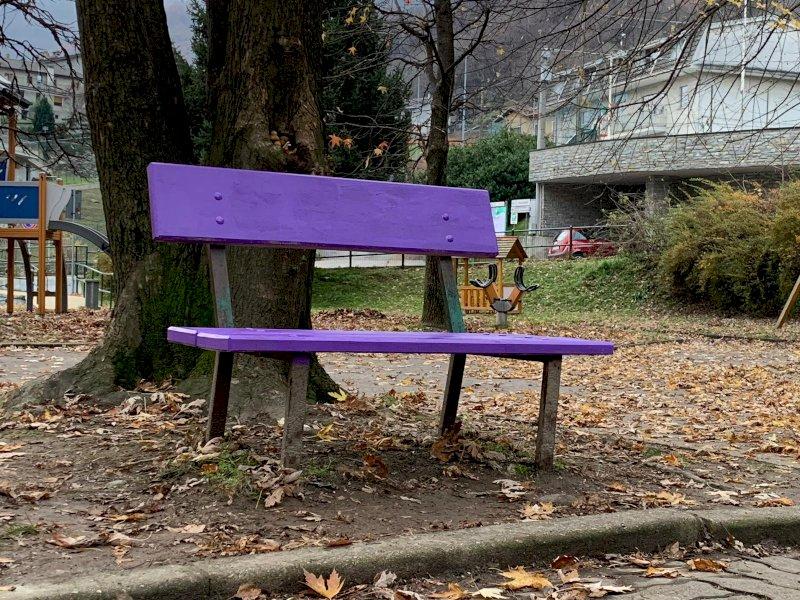 La panchina viola di Quincinetto
