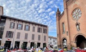 La Targa Sobrero Alba-Alassio-Rapallo-Portofino fa tappa in piazza Risorgimento