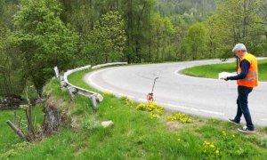 Nuove barriere stradali lungo i tornanti tra Sampeyre e Casteldelfino