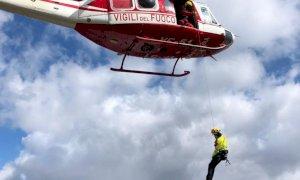 Due escursionisti recuperati dai Vigili del Fuoco sul colle del Prete