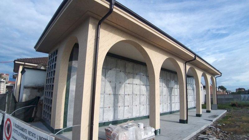 Moretta, in via di conclusione i lavori per il nuovo padiglione del cimitero