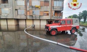 Allagamenti in tutta Racconigi, intervento in forze dei pompieri