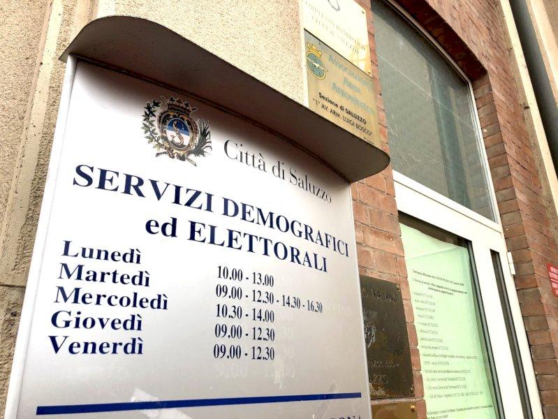 Saluzzo, ampliato l'orario per le prenotazioni telefoniche per l'Ufficio Servizi demografici del Comune