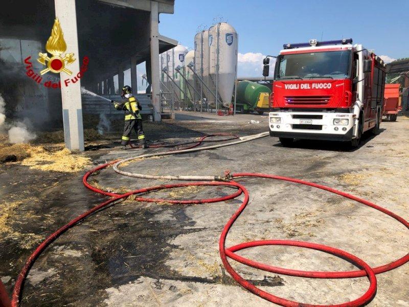 Incendio in un fienile in frazione Gerbo a Fossano