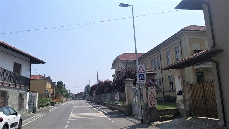 Moretta, nuova illuminazione pubblica in via Roma
