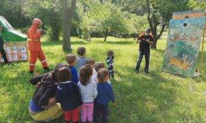 Una giornata da pompieri per i bimbi dell'asilo a Pianchiosso di Priola