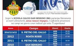 Alla Scuola Calcio del San Benigno 2RG allenamenti liberi sino a fine mese