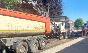 Centallo, sono iniziati ieri i lavori di ripristino dell'asfalto sulla strada statale