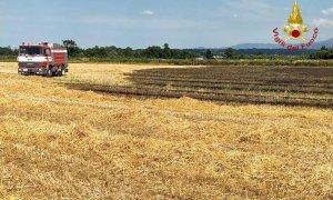 Bruciano campi di grano a Margarita e Busca: nessuna persona coinvolta