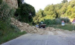Intervento della Provincia sulla frana tra Pocapaglia e Sommariva Perno